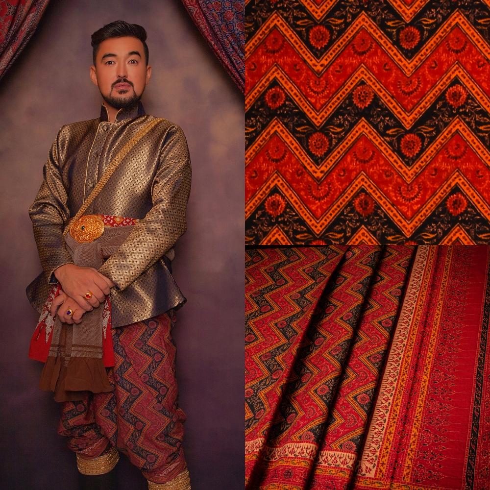 Thai Style Studio 1984 ชุดไทยกับผ้าลายอย่าง (Siamese chintz) 21