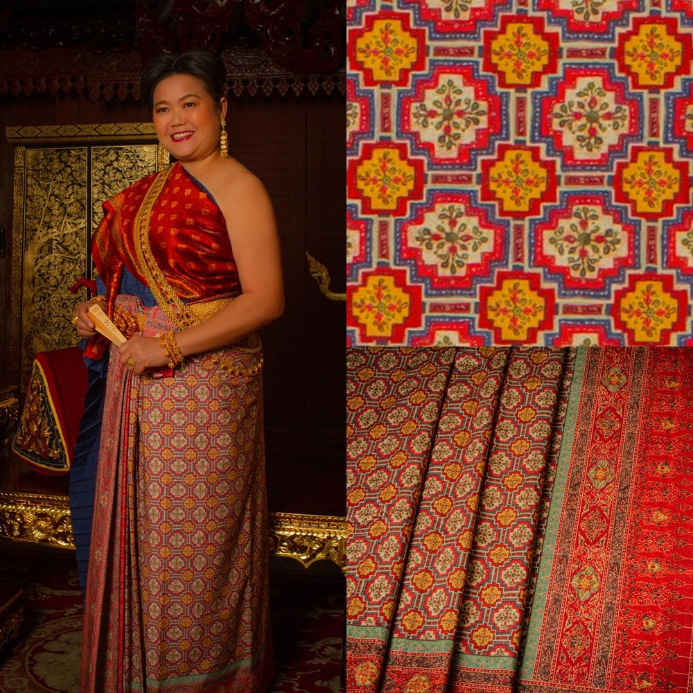 Thai Style Studio 1984 ชุดไทยกับผ้าลายอย่าง (Siamese chintz) 33